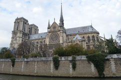 The Notre Dame Cathedral. On the Cite island Stock Images