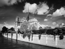 Notre Dame Cathedral in the city centre Royalty Free Stock Image