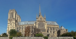 Notre Dame Cathedral in the city of Paris France Stock Photography