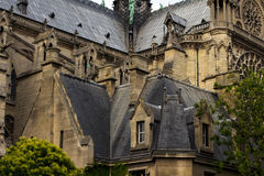 Notre Dame Cathedral das Fragment Lizenzfreies Stockfoto