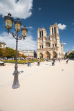 Notre Dame Cathedral Day Angle Royalty Free Stock Photos