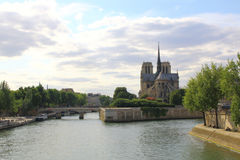 Notre dame cathedral de Paris, France. Royalty Free Stock Image