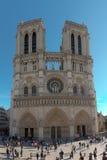 Notre Dame Cathedral in de stad van Parijs Frankrijk stock afbeelding