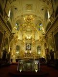 Notre Dame Cathedral della Quebec: Dentro Fotografia Stock Libera da Diritti