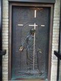 Notre Dame Cathedral della Quebec: La porta santa Québec Fotografia Stock