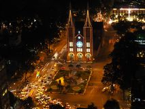 Notre Dame Cathedral e engarrafamento Fotografia de Stock