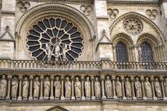 Notre Dame Cathedral el fragmento Imagen de archivo libre de regalías