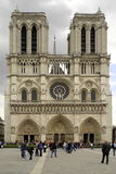 Notre Dame Cathedral facade. In the City of Paris, France Royalty Free Stock Photography