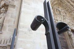 Notre Dame Cathedral, fence details, Paris, France stock images