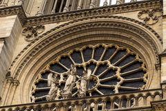 Notre Dame Cathedral the fragment Stock Photography