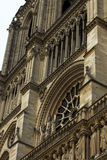 Notre Dame Cathedral the fragment Stock Photo