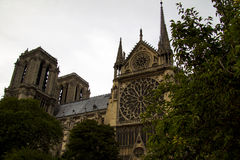 Notre Dame Cathedral the fragment Stock Images