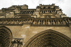 Notre Dame Cathedral the fragment Royalty Free Stock Images