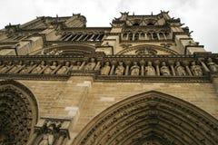 Notre Dame Cathedral fragmentet Royaltyfria Bilder