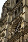 Notre Dame Cathedral fragmentet Arkivfoto