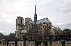 Notre Dame Cathedral France Paris royaltyfri bild