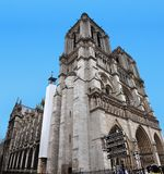 One of the icons of Paris, the Notre Dame Cathedral. stock photo