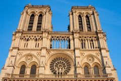 Notre-Dame Cathedral Front Towers royalty free stock images