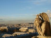 Notre Dame Cathedral Gargoyle Fotografering för Bildbyråer