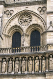 Notre Dame Cathedral het fragment Stock Foto's