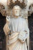 Notre Dame Cathedral, het Onderwijs van Parijs Christus stock foto