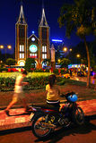 Notre Dame cathedral in Ho Chi Mihn city Vietnam Stock Photos