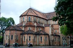 Notre Dame Cathedral in Ho Chi Minh Stock Image