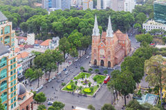 Notre Dame Cathedral. In Ho Chi Minh city. Ho Chi Minh City has the most dynamic economy in Vietnam Royalty Free Stock Image