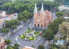 Notre Dame Cathedral. In Ho Chi Minh city. Ho Chi Minh City has the most dynamic economy in Vietnam Royalty Free Stock Photo