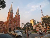 Notre Dame cathedral, Ho Chi Minh City, Vietnam. This cathedral is opposite the Post Office in Ho Chi Minh City, Vietnam. Ideal for writeup on Ho Chi Minh City Stock Photos