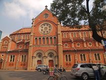 Notre Dame cathedral, Ho Chi Minh City, Vietnam. This is a side view of Notre Dame Cathedral in Ho Chi Minh City, Vietnam Royalty Free Stock Photography