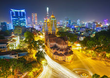 Notre Dame cathedral in Ho Chi Minh City Royalty Free Stock Image
