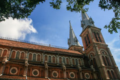Notre dame cathedral in ho chi minh city,vietnam Royalty Free Stock Photo