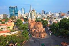 Notre Dame Cathedral i Sai Gon, Vietnam Arkivbild