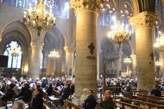 Notre Dame Cathedral inside Stock Photos