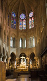 Notre Dame Cathedral Interior Stock Photography