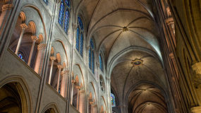 Notre Dame Cathedral interior photo Royalty Free Stock Photography
