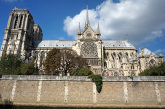 Notre Dame Cathedral ln Paris Royalty Free Stock Photography