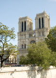 Notre Dame Cathedral located in Paris France Royalty Free Stock Photos