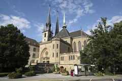 Notre Dame cathedral of Luxembourg Stock Images