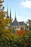 Notre Dame cathedral of Luxembourg Royalty Free Stock Images