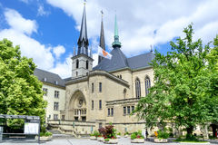 Notre-Dame Cathedral  in Luxembourg. Stock Photography