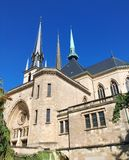 Notre-Dame Cathedral, Luxembourg. Notre-Dame Cathedral Luxembourgish: Kathedral Notre-Dame, French: Cathédrale Notre-Dame, German: Kathedrale unserer lieben Royalty Free Stock Photography