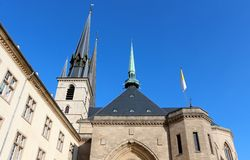 Notre-Dame Cathedral, Luxembourg Stock Images