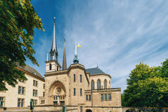 Notre-Dame Cathedral, Luxembourg is the Roman Stock Photos