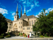 Notre Dame cathedral of Luxemburg Royalty Free Stock Photography