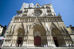 Notre Dame Cathedral Lyon Royalty Free Stock Images