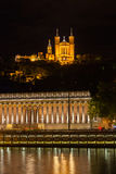 The Notre Dame Cathedral in Lyon, France Royalty Free Stock Photo