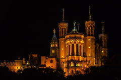 The Notre Dame Cathedral in Lyon, France Stock Image