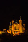 The Notre Dame Cathedral in Lyon, France Royalty Free Stock Photos